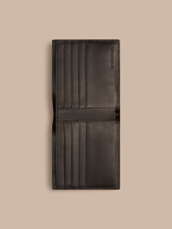 Chocolate/black London Check Folding Wallet Chocolate/black - cell image 3