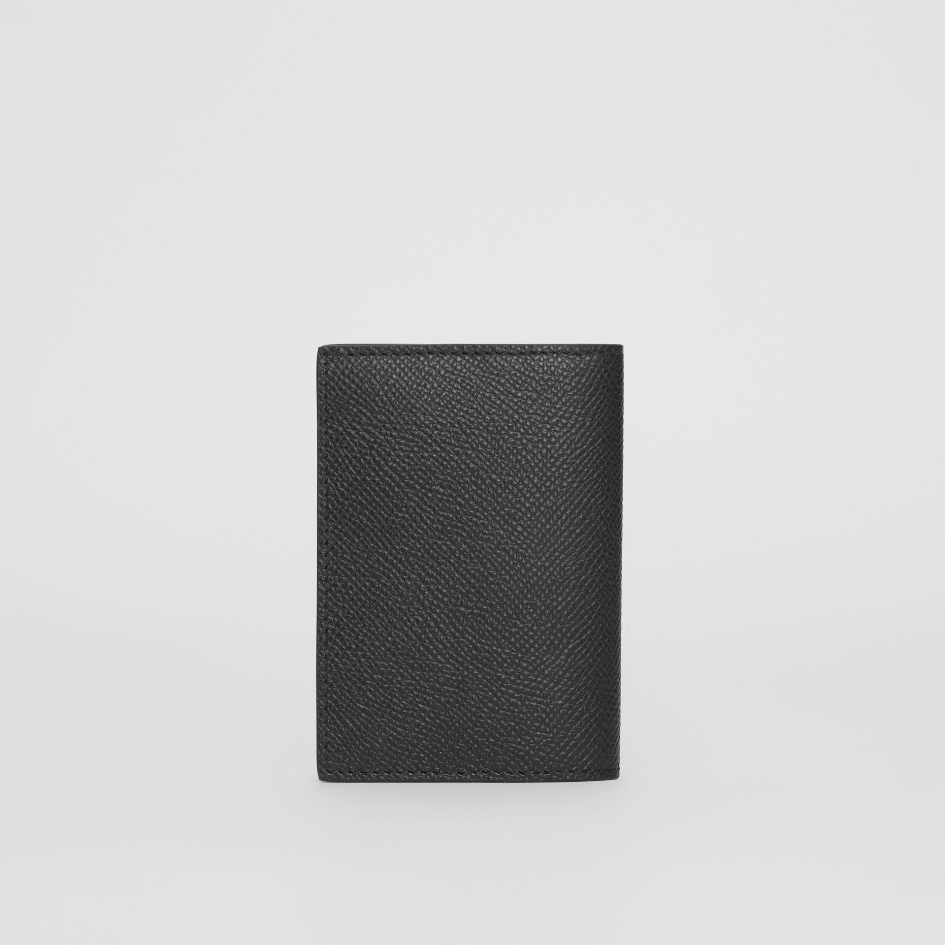 Grainy Leather Bifold Card Case in Black - Men | Burberry - gallery image 4