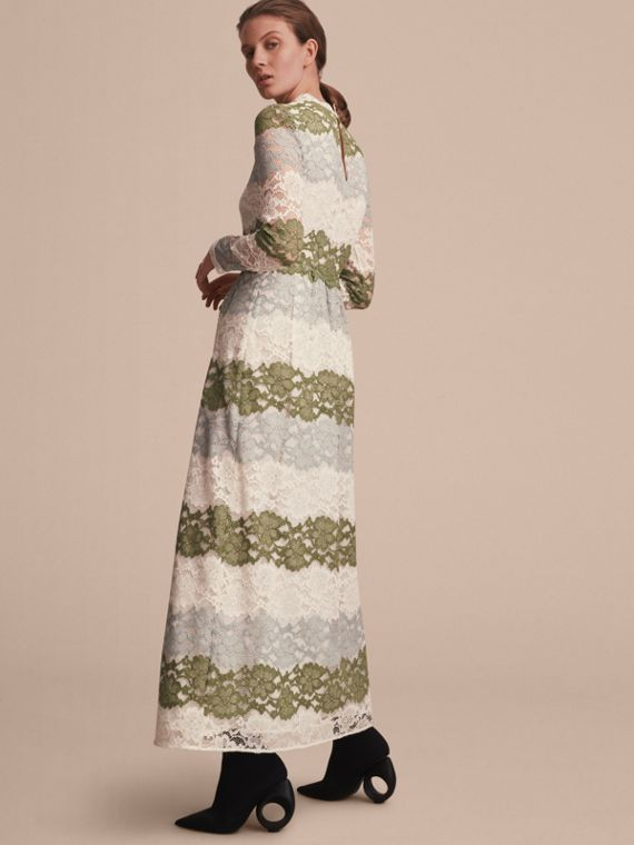 Floor-length Floral Lace Dress - cell image 2