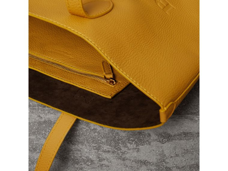 Embossed Leather Tote in Ochre Yellow | Burberry - cell image 4