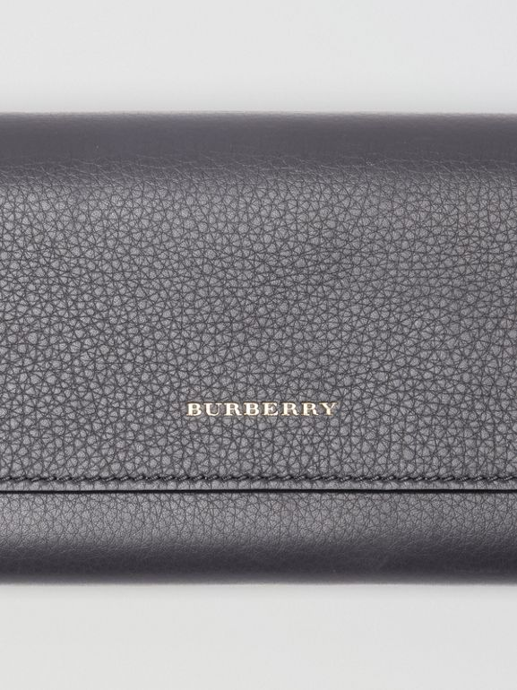Leather Continental Wallet in Charcoal Grey - Women | Burberry - cell image 1