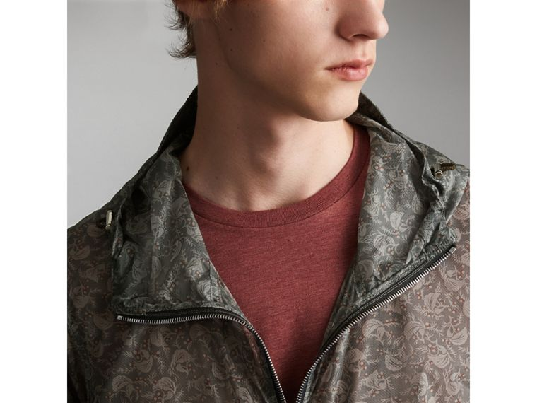 Leaf Pattern Hooded Ultra-lightweight Jacket - Men | Burberry - cell image 1