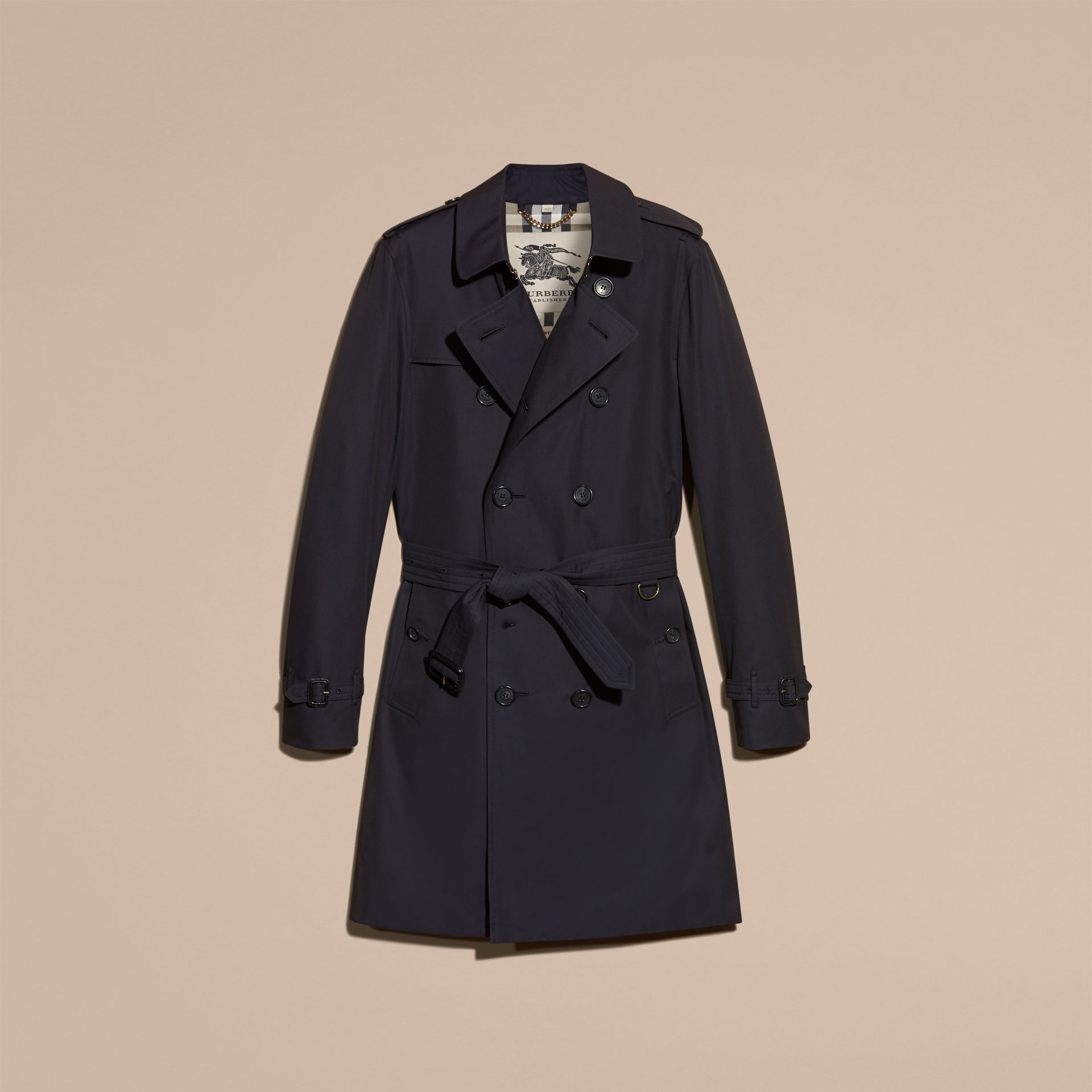 Marine The Sandringham – Trench-coat Heritage long Marine - photo de la galerie 4