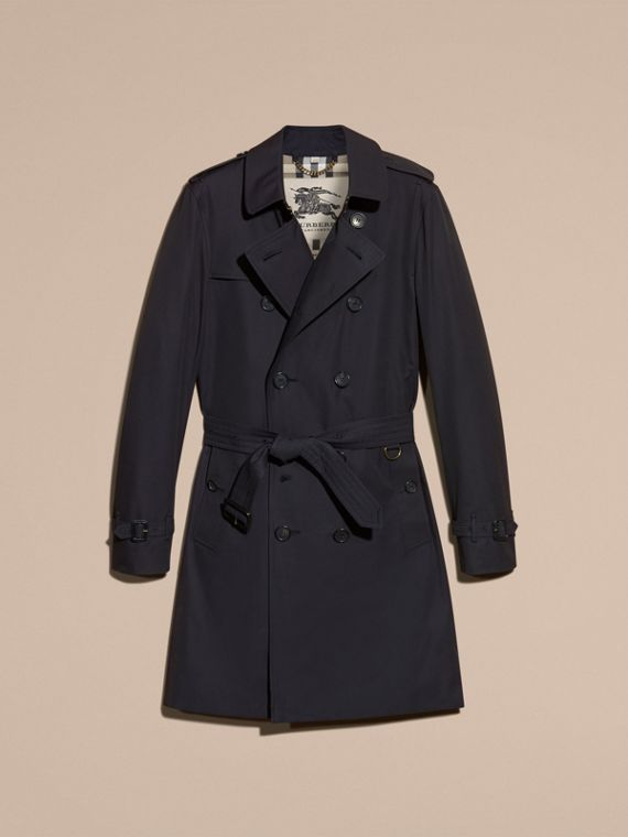Navy The Sandringham – Long Heritage Trench Coat Navy - cell image 3