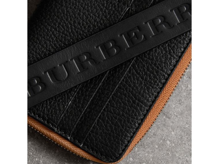 Grainy Leather Phone Case in Black - Men | Burberry - cell image 1