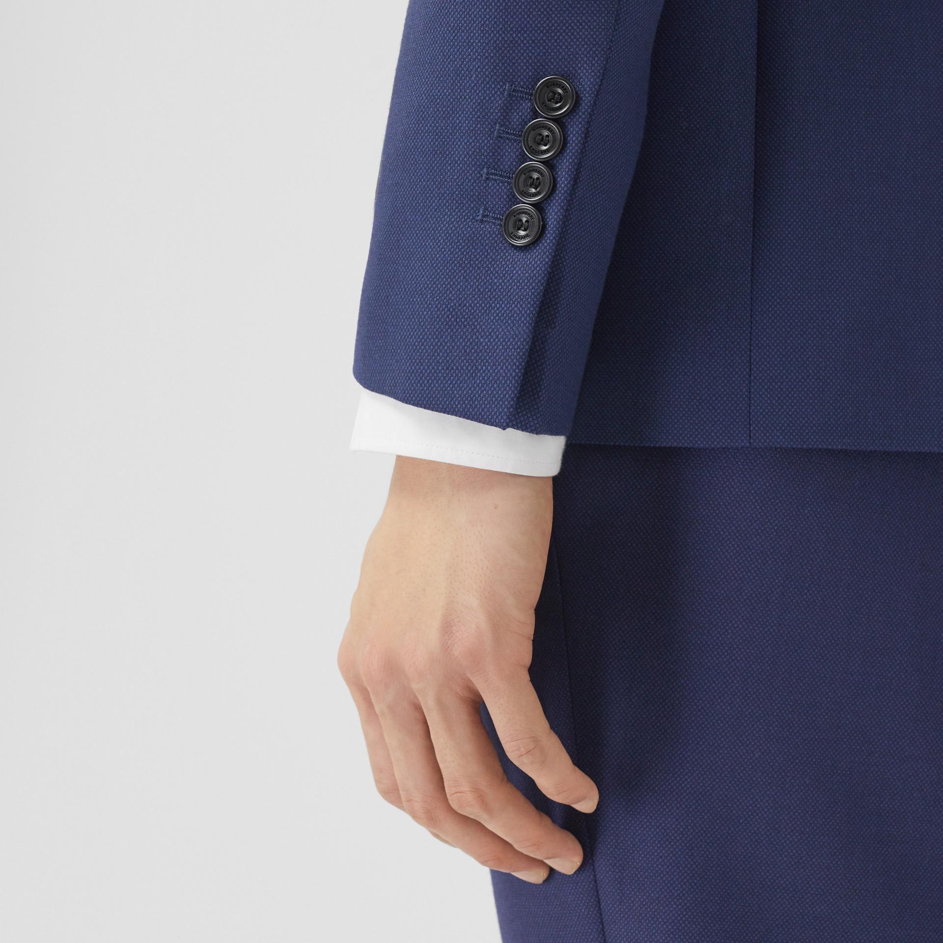 Классический пиджак из шерсти с узором «птичий глаз» (Насыщенный Темно-синий) - Для мужчин | Burberry - изображение 4