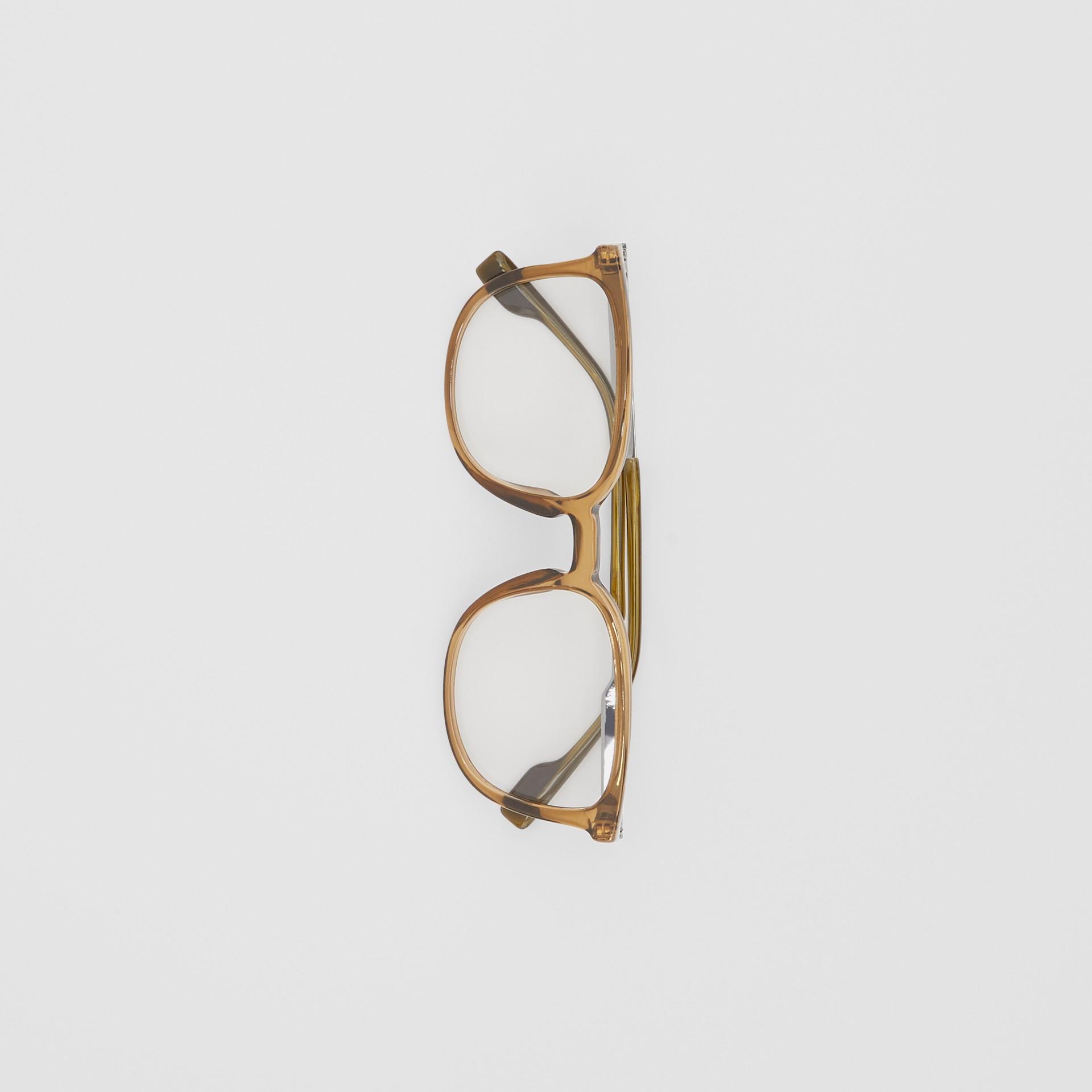 Brille mit eckigem Gestell (Olivfarben) | Burberry - Galerie-Bild 3