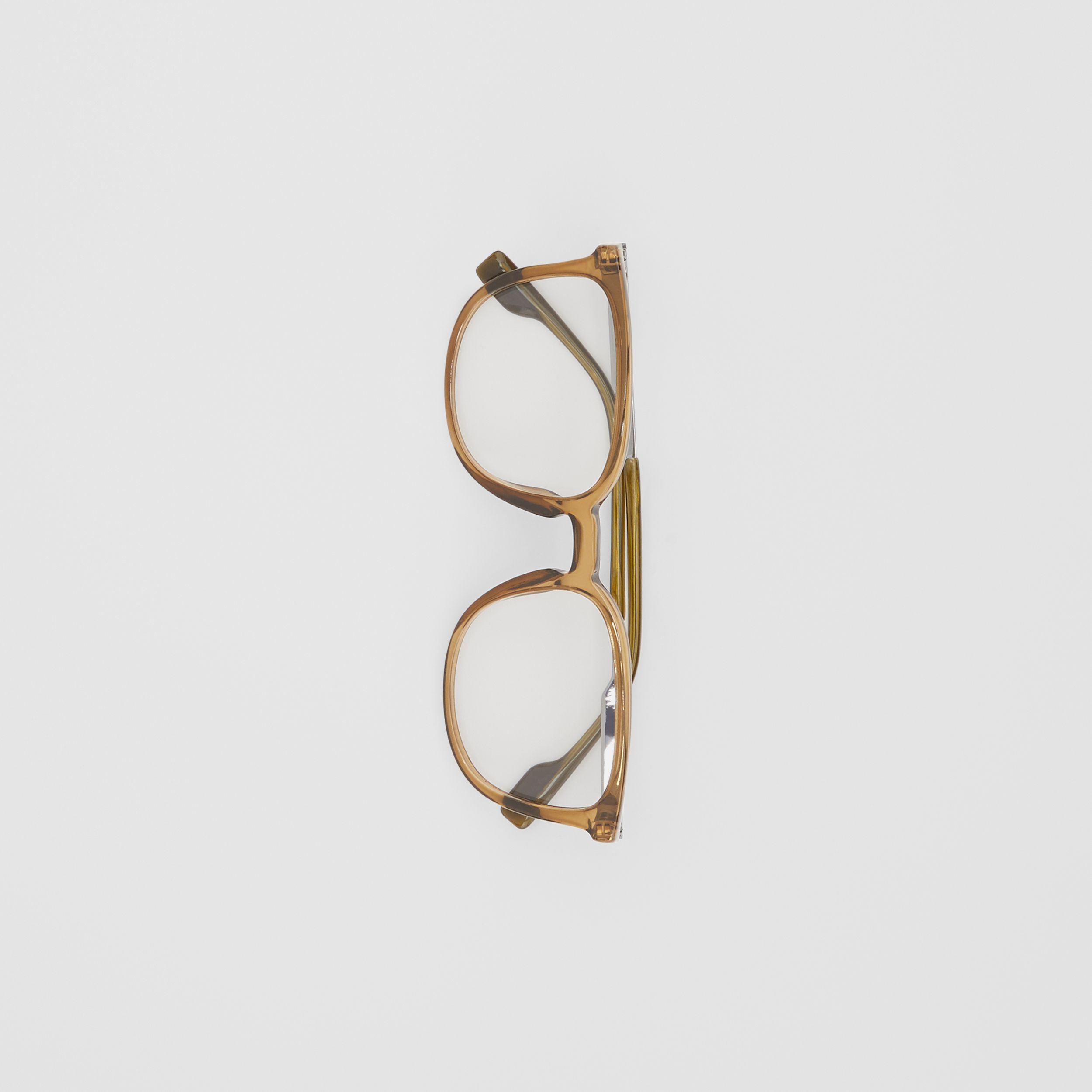 Square Optical Frames in Olive Green | Burberry - 4