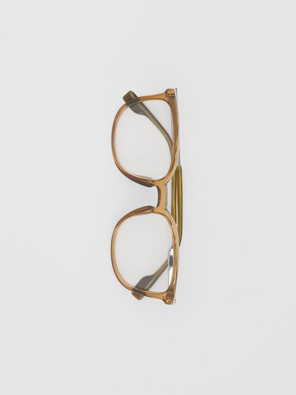 Square Optical Frames in Olive Green | Burberry - cell image 2