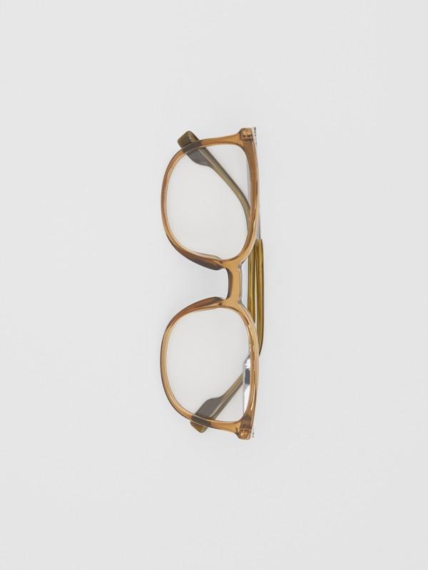 Brille mit eckigem Gestell (Olivfarben) | Burberry - cell image 3
