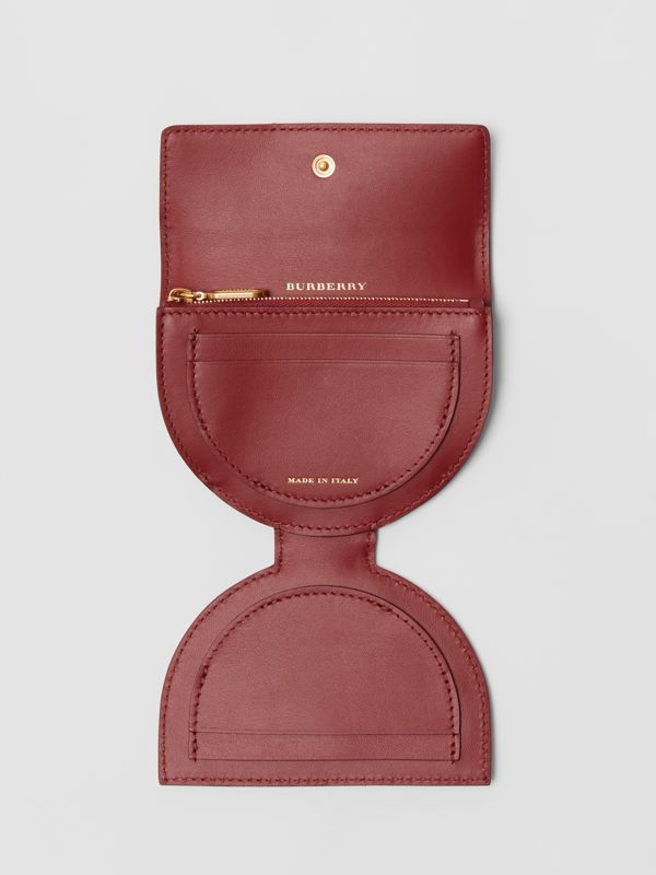 D-ring Detail Patent Leather Coin Case in Crimson - Women | Burberry - cell image 3