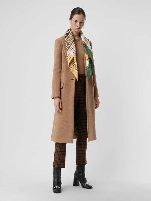 Archive Scarf Print Silk Square Scarf in Multicolour | Burberry - cell image 2
