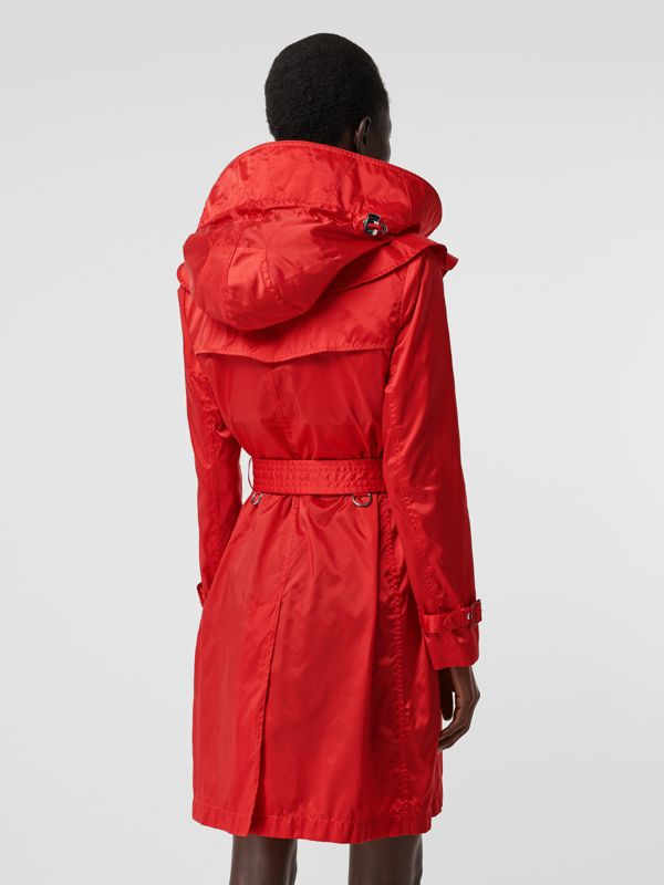 Detachable Hood ECONYL® Trench Coat in Bright Red - Women | Burberry - cell image 2