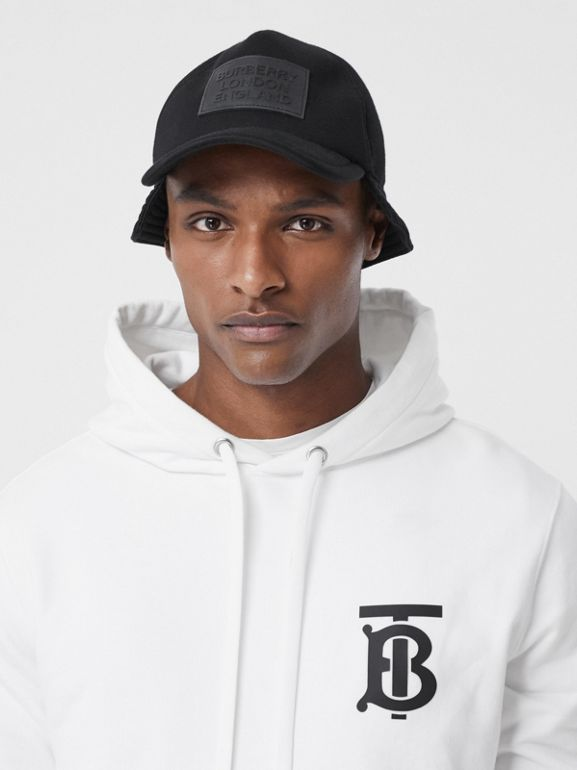 Monogram Motif Cotton Hoodie in White - Men | Burberry - cell image 1