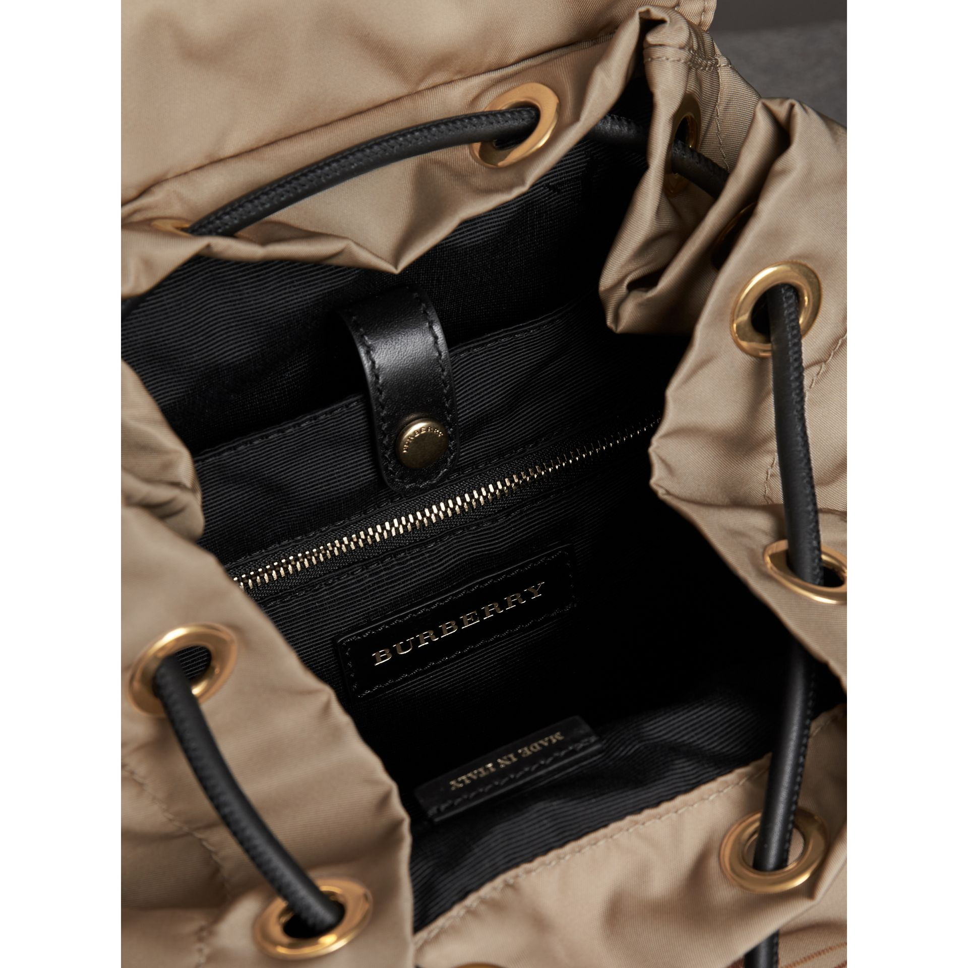 The Large Rucksack in Sketch Print Nylon in Honey | Burberry - gallery image 5