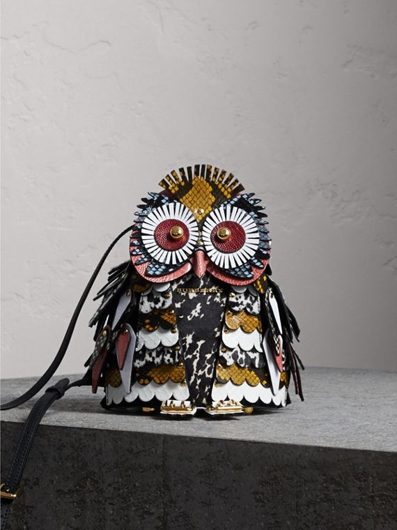 The Owl – Crossbody-Tasche aus Kalbveloursleder und Kalbfell - Damen | Burberry