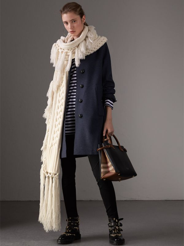 The Banner media in pelle bicolore (Nero/marroncino) - Donna | Burberry - cell image 2