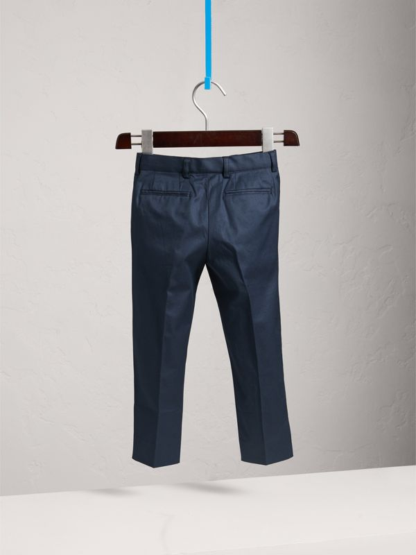 Stretch Cotton Tailored Trousers | Burberry - cell image 3