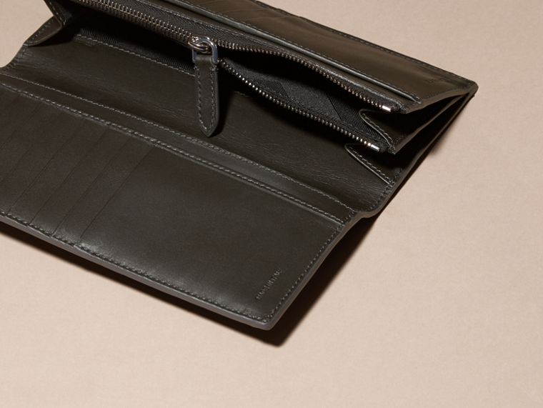 Charcoal/black Colour Block London Leather Continental Wallet Charcoal/black - cell image 4