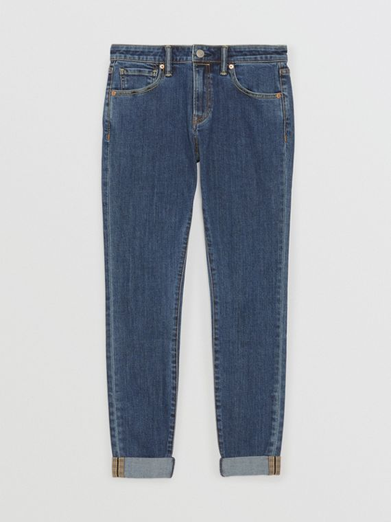 Straight Fit Japanese Selvedge Denim Jeans in Blue