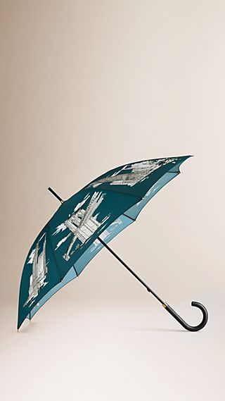 New York Landmarks Walking Umbrella