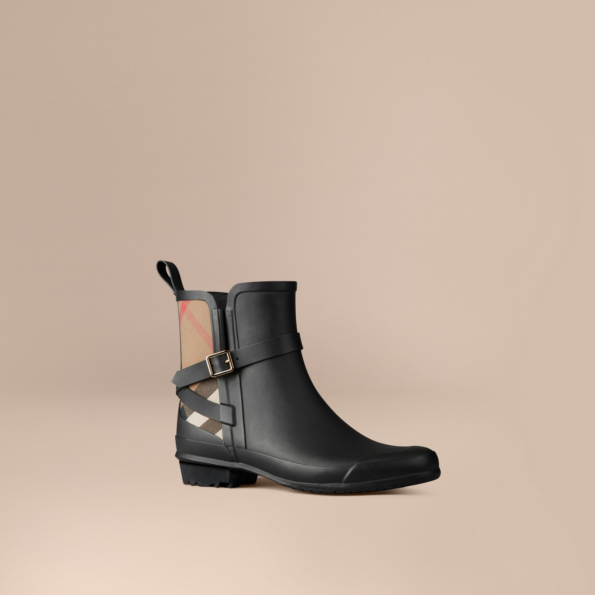 Black House Check Detail Rain Boots - gallery image 1
