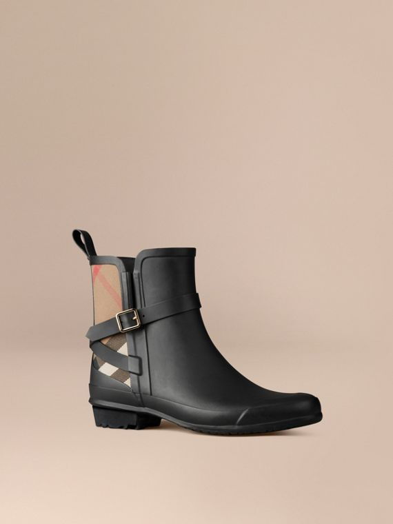 Regenstiefel mit House Check-Detail