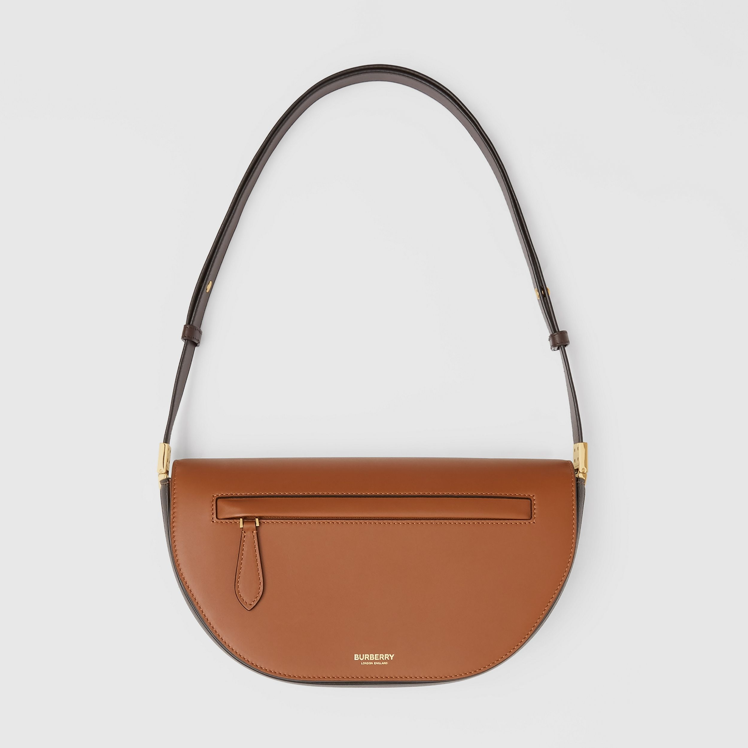Small Two-tone Leather Olympia Bag in Warm Tan | Burberry - 1