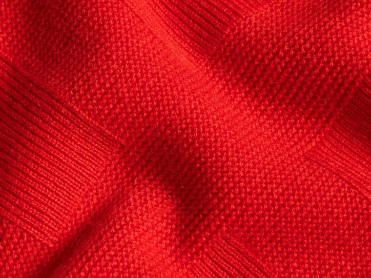 Bright military red Check-knit Wool Cashmere Sweater Bright Military Red - cell image 1