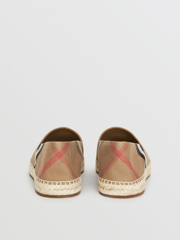 Canvas Check Espadrilles in Classic - Men | Burberry Australia - cell image 3