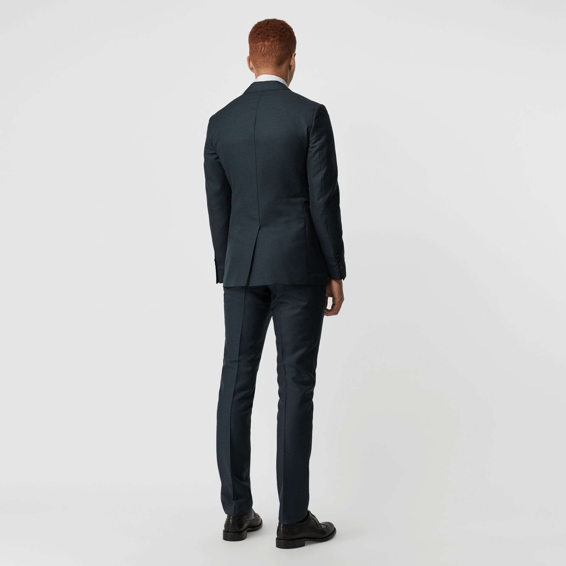 Slim Fit Wool Mohair Silk Suit in Dark Teal - Men | Burberry Canada - gallery image 2
