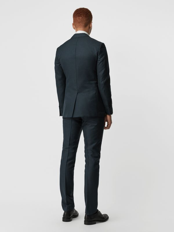 Slim Fit Wool Mohair Silk Suit in Dark Teal - Men | Burberry Canada - cell image 2