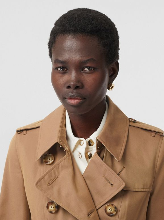 Cotton Gabardine Trench Coat in Warm Taupe - Women | Burberry - cell image 1