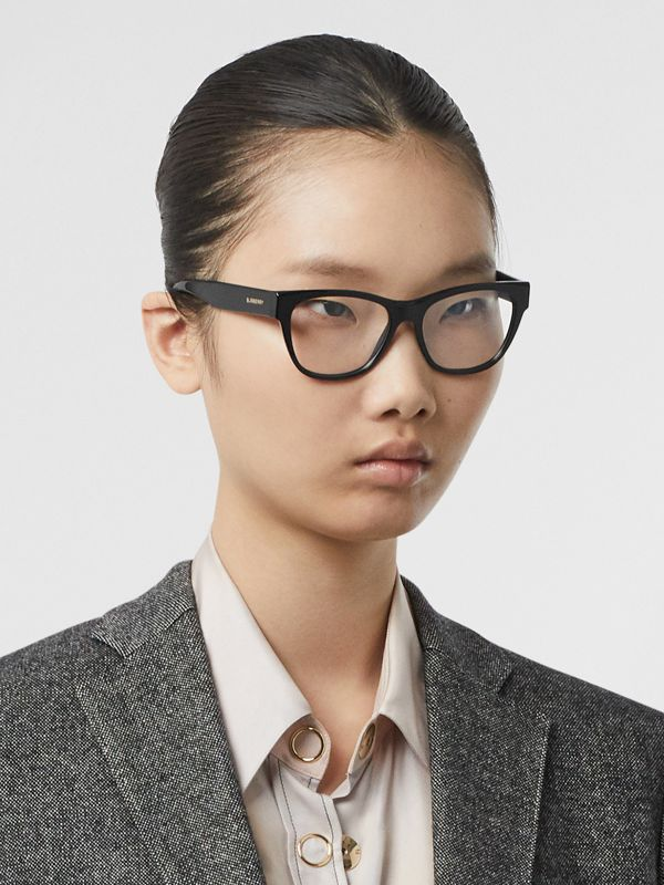 Square Optical Frames in Black - Women | Burberry Canada - cell image 2