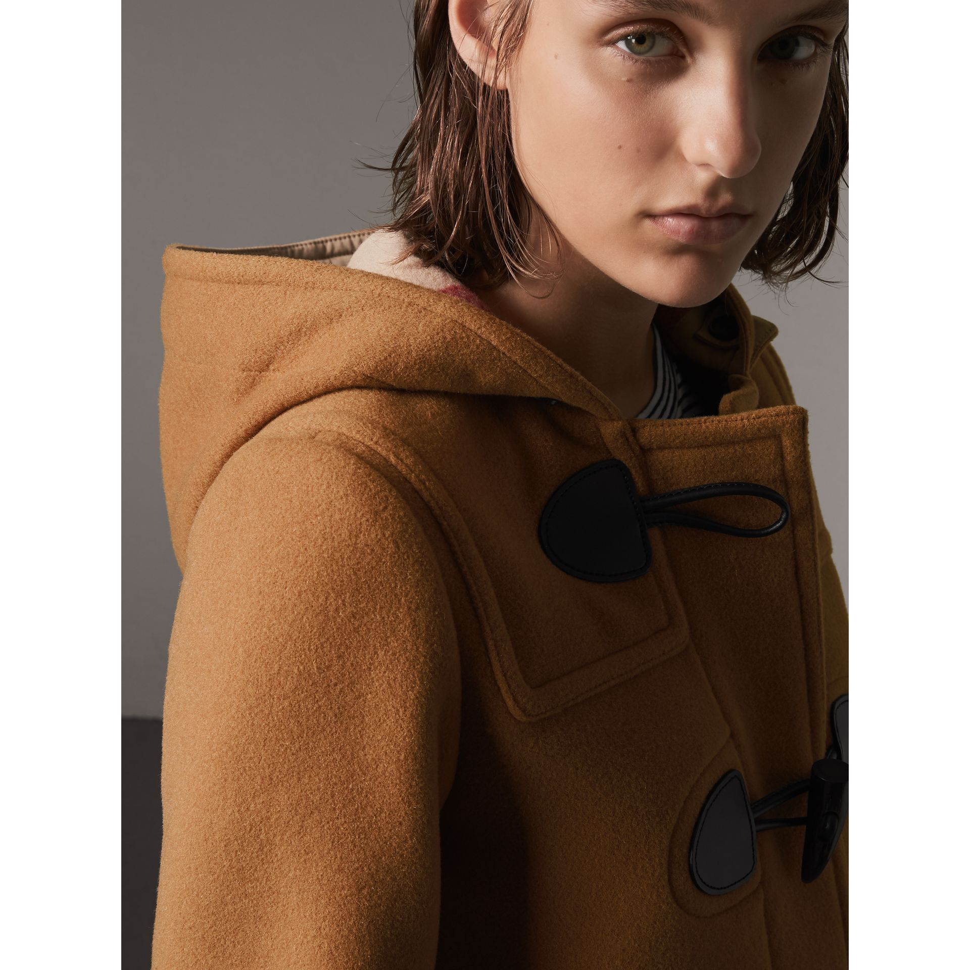 The Mersey Duffle Coat in Mid Camel - Women | Burberry Australia - gallery image 1