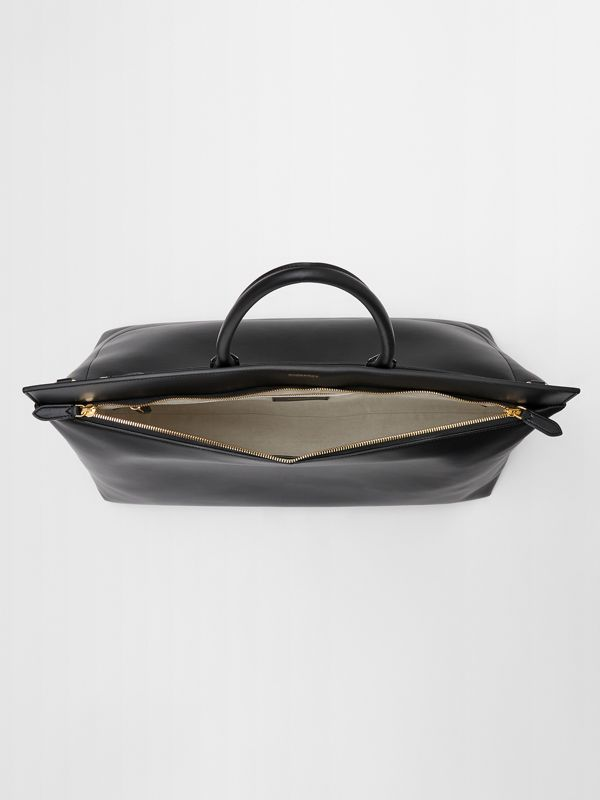 Extra Large Leather Society Top Handle Bag in Black - Men | Burberry - cell image 3