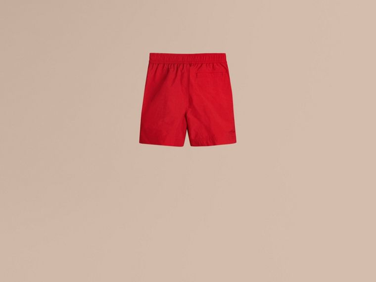 Lightweight Swim Shorts in Military Red - Boy | Burberry Australia - cell image 2