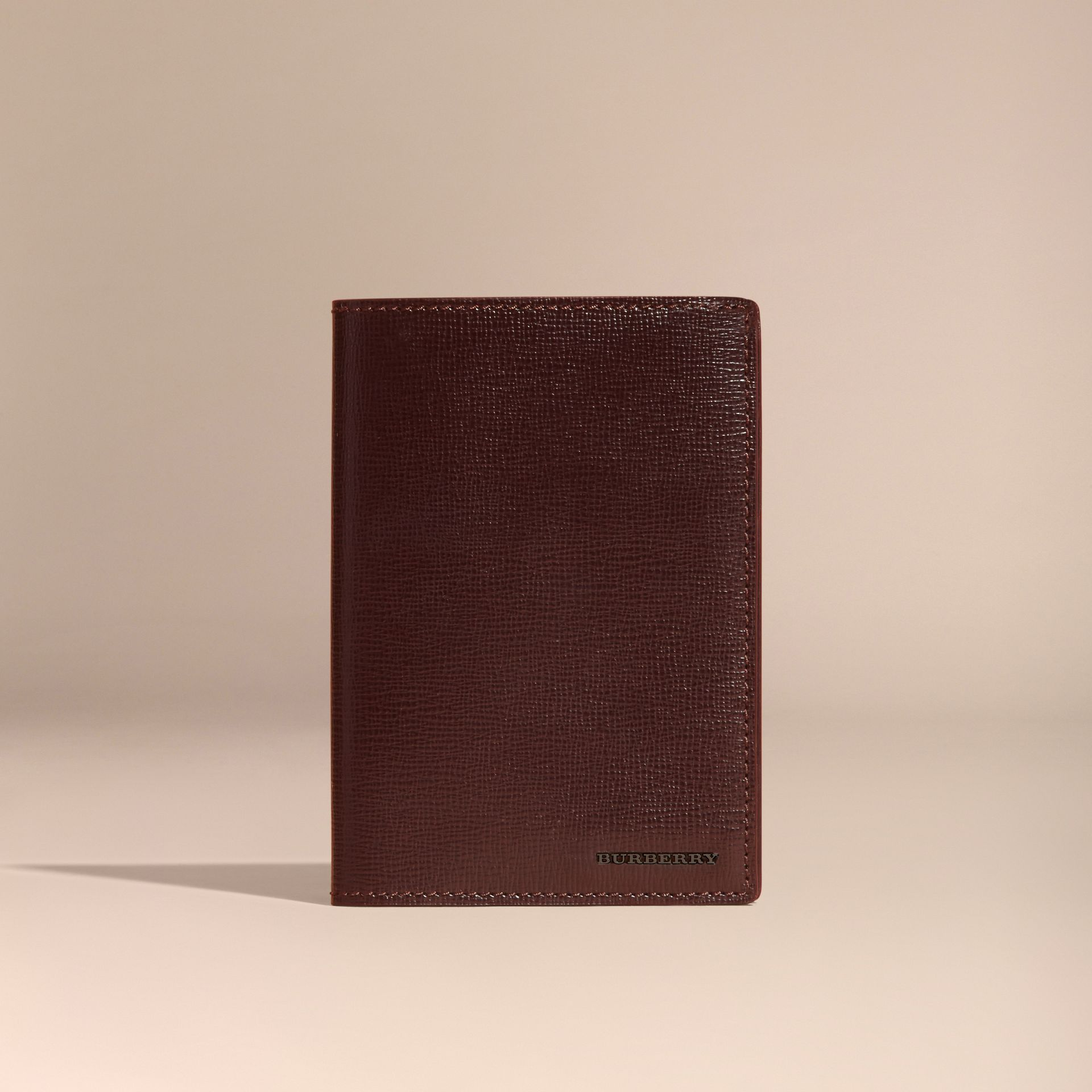 Wine London Leather Passport and Card Holder Wine - gallery image 6