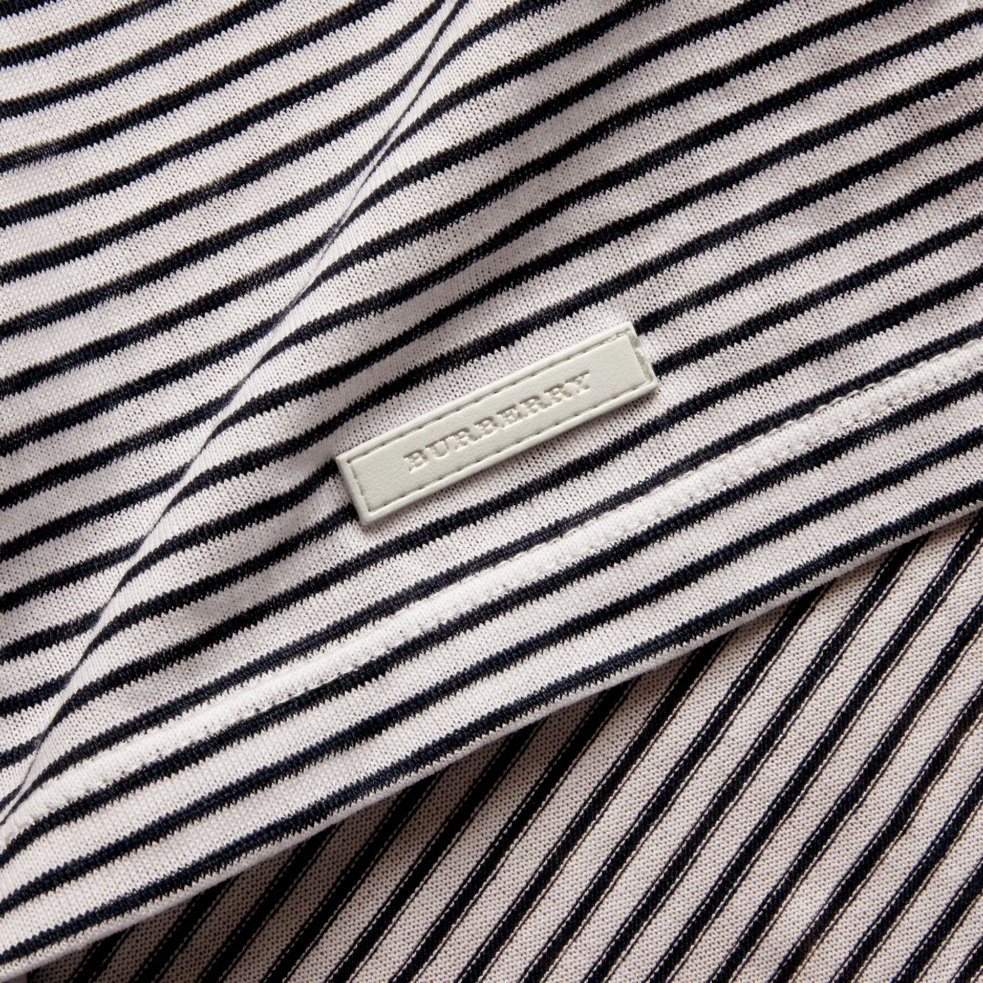 Striped Cotton Linen T-shirt - gallery image 2
