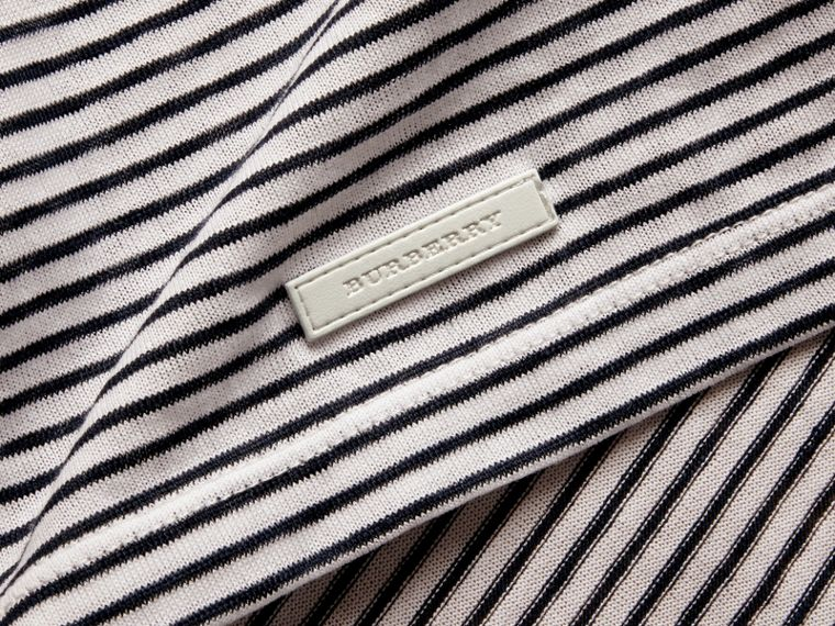 Striped Cotton Linen T-shirt - cell image 1