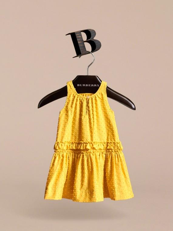 Dot Fil Coupé Cotton Silk Blend Dress - cell image 3