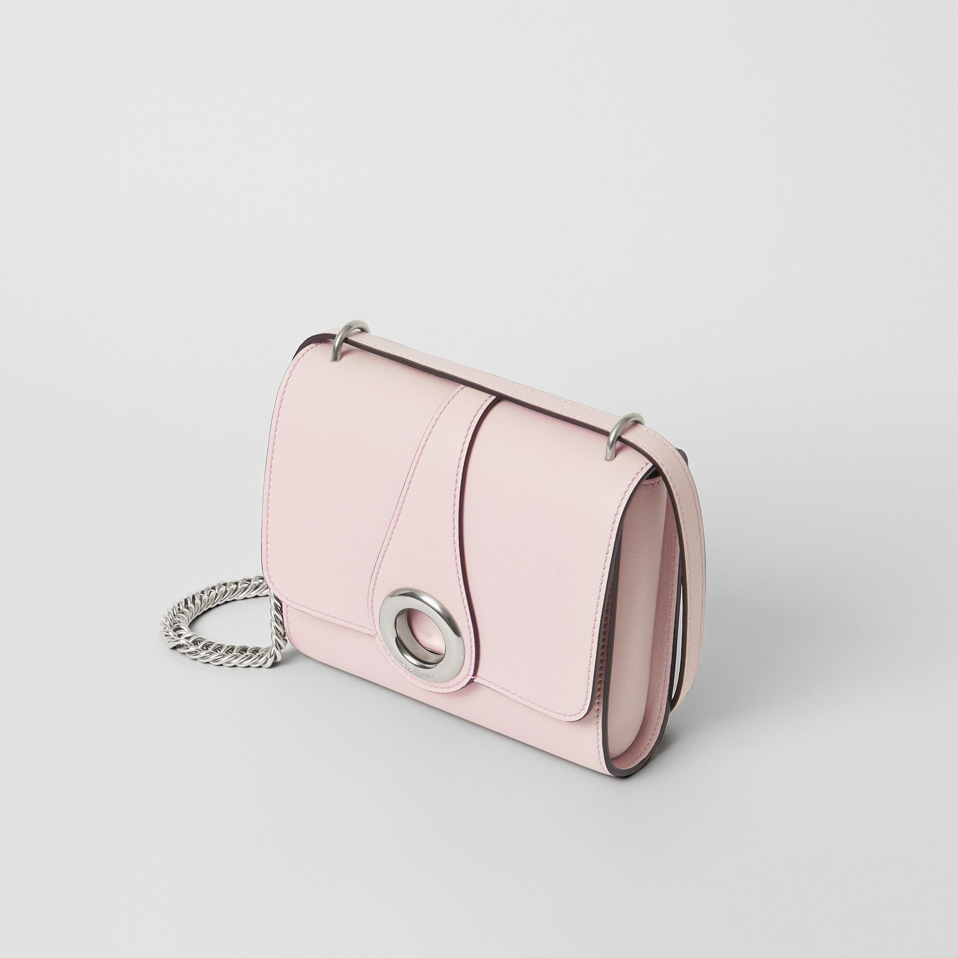 The Leather Grommet Detail Crossbody Bag in Chalk Pink - Women | Burberry United Kingdom - gallery image 4