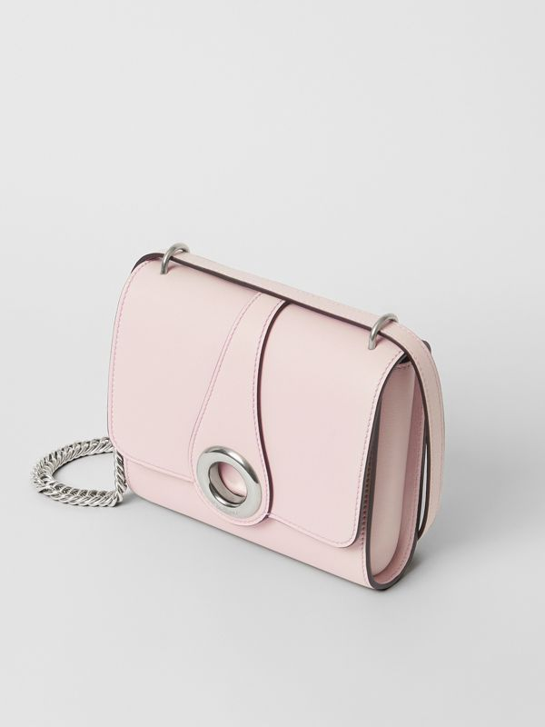 The Leather Grommet Detail Crossbody Bag in Chalk Pink - Women | Burberry - cell image 2