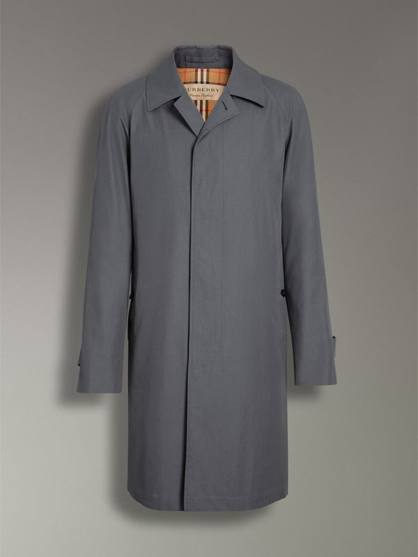 The Camden Car Coat in Mid Grey - Men | Burberry Singapore - cell image 3