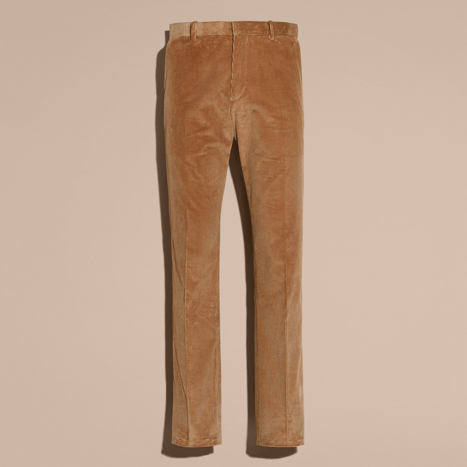 Camel Slim Fit Cotton Corduroy Trousers Camel - gallery image 4