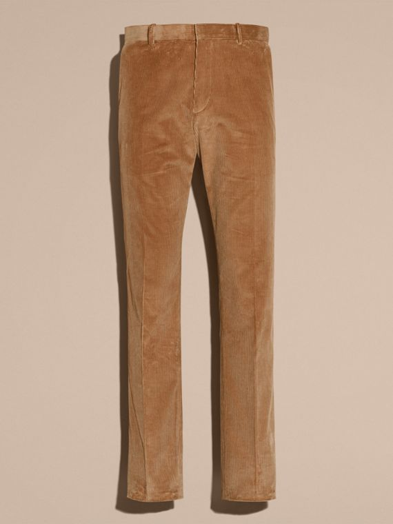 Camel Slim Fit Cotton Corduroy Trousers Camel - cell image 3