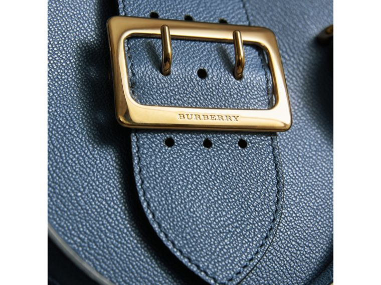 The Small Buckle Tote in Grainy Leather in Steel Blue - Women | Burberry - cell image 1