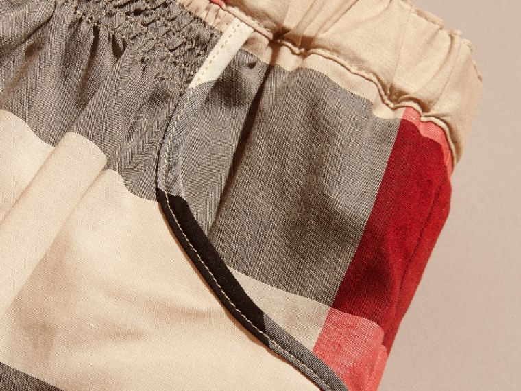 Check Cotton Ruched Skirt in New Classic - Girl | Burberry - cell image 1