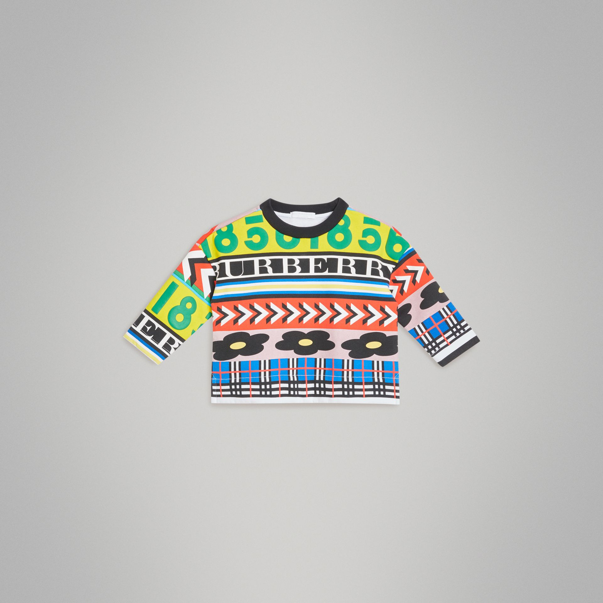 Graphic Print Jersey Sweatshirt in Multicolour | Burberry United Kingdom - gallery image 0