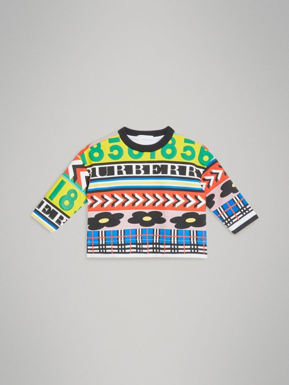 Graphic Print Jersey Sweatshirt in Multicolour